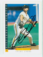Steve Cooke AUTOGRAPH 1993 Score Pirates 