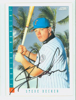 Steve Decker AUTOGRAPH 1993 Score Marlins 