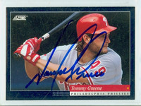 Tommy Greene AUTOGRAPH 1994 Score Phillies 