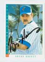 Bryan Harvey AUTOGRAPH 1993 Score Marlins 