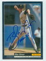 Blas Minor AUTOGRAPH 1994 Score Pirates 
