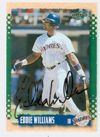Eddie Williams AUTOGRAPH 1995 Score Padres 