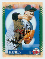 Carl Willis AUTOGRAPH 1995 Score Twins 