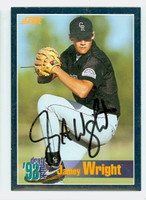 Jamey Wright AUTOGRAPH 1994 Score Rockies 