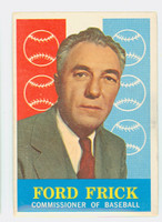 1959 Topps Baseball 1 Ford Frick Very Good to Excellent