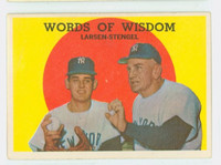 1959 Topps Baseball 383 Words Of Wisdom New York Yankees Good to Very Good