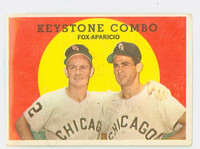 1959 Topps Baseball 408 Keystone Combo Chicago White Sox Fair to Good