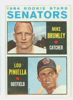 1964 Topps Baseball 167 Senators Rookies Fair to Poor