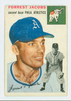 1954 Topps Baseball 129 Forrest Jacobs Oakland Athletics Good to Very Good
