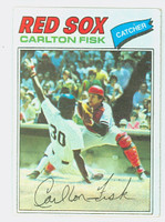 1977 Topps Baseball 640 Carlton Fisk Boston Red Sox Excellent