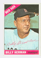 Billy Herman AUTOGRAPH d.92 1966 Topps #37 Red Sox CARD IS VG, AUTO CLEAN  [SKU:HermB88_T66BBS]