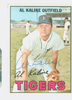 Al Kaline AUTOGRAPH 1967 Topps #30 Tigers CARD IS VG, AUTO CLEAN
