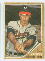 Eddie Mathews AUTOGRAPH d.01 1962 Topps #30 Braves CARD IS G/VG; CRN WEAR, AUTO CLEAN