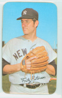 1971 Topps Baseball Supers 13 Fritz Peterson New York Yankees Very Good to Excellent