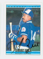 Derek Bell AUTOGRAPH 1992 Donruss Blue Jays 