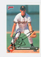 Mike Benjamin AUTOGRAPH 1993 Donruss Giants 