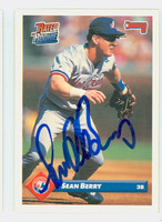 Sean Berry AUTOGRAPH 1993 Donruss Expos 