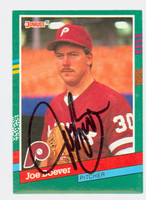 Joe Boever AUTOGRAPH 1991 Donruss Phillies 
