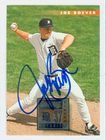 Joe Boever AUTOGRAPH 1996 Donruss Tigers 