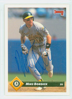 Mike Bordick AUTOGRAPH 1993 Donruss Athletics 