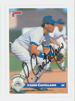 Pedro Castellano AUTOGRAPH 1993 Donruss Rockies 