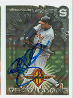 Tony Clark AUTOGRAPH 1998 Donruss HIT LIST Tigers 