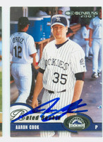 Aaron Cook AUTOGRAPH 2003 Donruss Rockies 