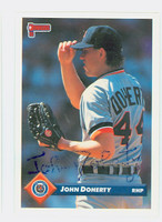 John Doherty AUTOGRAPH 1993 Donruss Tigers 