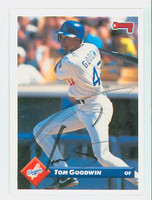 Tom Goodwin AUTOGRAPH 1993 Donruss Dodgers 