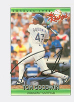 Tom Goodwin AUTOGRAPH 1992 Donruss Dodgers 