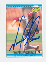 Tommy Greene AUTOGRAPH 1992 Donruss Highlight Phillies 