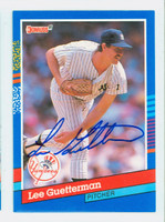 Lee Guetterman AUTOGRAPH 1991 Donruss Yankees 