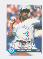 Juan Guzman AUTOGRAPH 1993 Donruss Blue Jays 