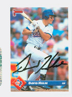 David Hulse AUTOGRAPH 1993 Donruss Rangers 