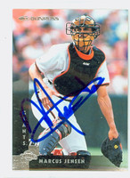 Marcus Jensen AUTOGRAPH 1997 Donruss Giants 