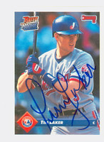 Tim Laker AUTOGRAPH 1993 Donruss Expos 