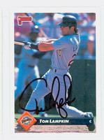 Tom Lampkin AUTOGRAPH 1993 Donruss Padres 