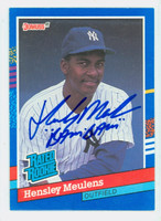 Hensley Meulens AUTOGRAPH 1991 Donruss Yankees 