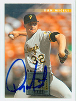 Dan Miceli AUTOGRAPH 1996 Donruss Pirates 