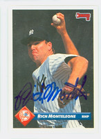 Rich Monteleone AUTOGRAPH 1993 Donruss Yankees 