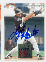 Lyle Mouton AUTOGRAPH 1996 Donruss White Sox 