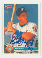 Bob Natal AUTOGRAPH 1993 Donruss Marlins 