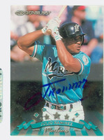 Julio Ramirez AUTOGRAPH 1998 Donruss Marlins 