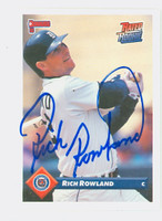 Rich Rowland AUTOGRAPH 1993 Donruss Tigers 