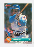 Gary Scott AUTOGRAPH 1993 Donruss Marlins 