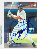 David Segui AUTOGRAPH 1997 Donruss Expos 