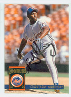 Anthony Young AUTOGRAPH 1994 Donruss Mets 