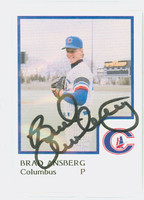Brad Arnsberg AUTOGRAPH 1986 ProCards Columbus Yankees 