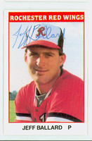 Jeff Ballard AUTOGRAPH 1987 TCMA Rochester Red Wings 