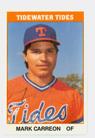 Mark Carreon AUTOGRAPH 1987 TCMA Tidewater Tides 